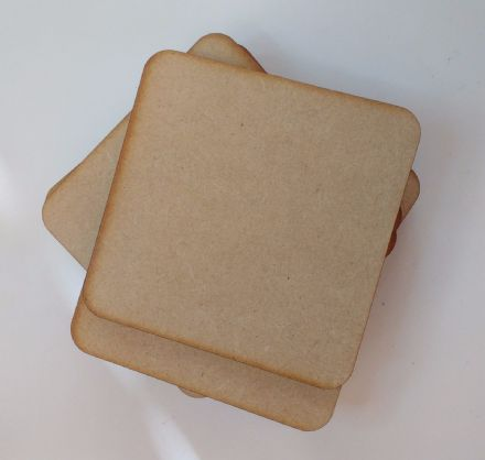 wooden coaster blanks 9cm  square MDF Pack of 10,25 or 50 crafts